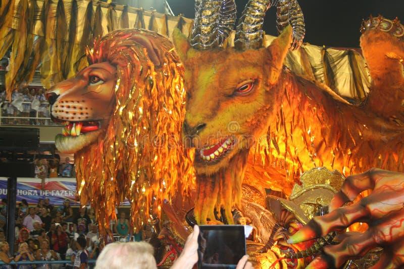 里约热内卢狂欢节- 2月20日: 免版税库存照片