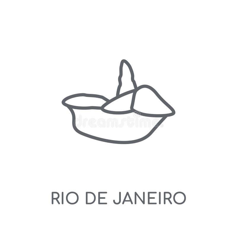 里约热内卢线性象 现代概述里约热内卢商标c 库存例证