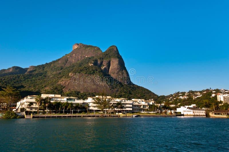 里约热内卢自然风景 图库摄影