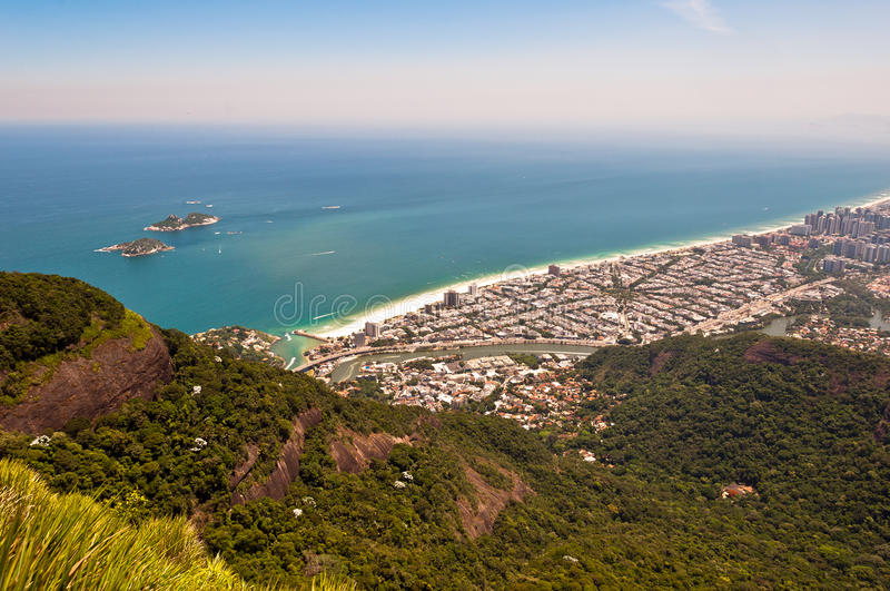 里约热内卢,巴拉岛da Tijuca 免版税库存照片