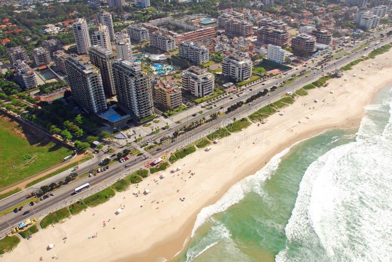 里约热内卢,巴西鸟瞰图  免版税库存照片