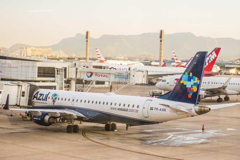 里约热内卢, RJ/巴西- 2017年3月04日 里约热内卢Airp 库存图片