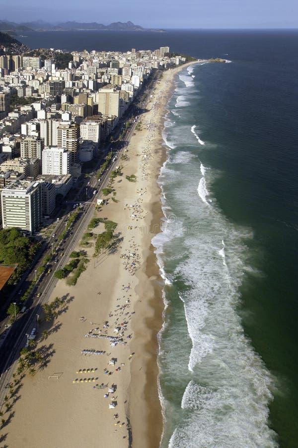 里约热内卢- Ipanema海滩-巴西 库存图片