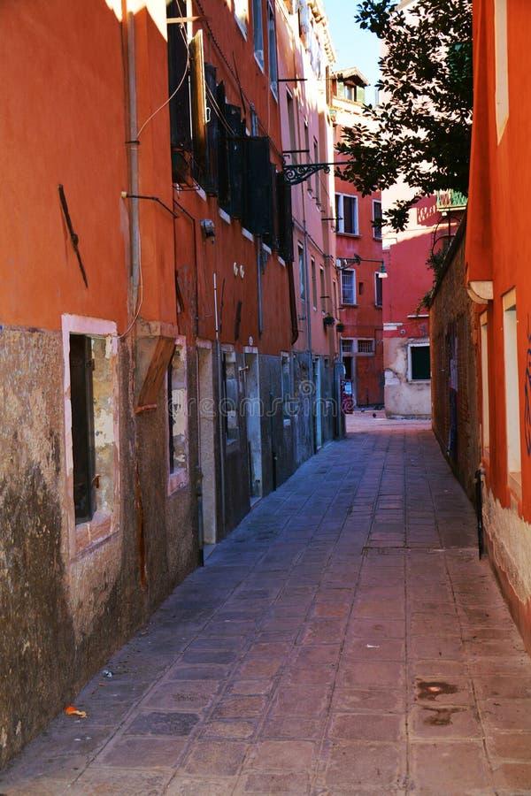 里约马林小街道,在威尼斯,意大利 免版税库存照片