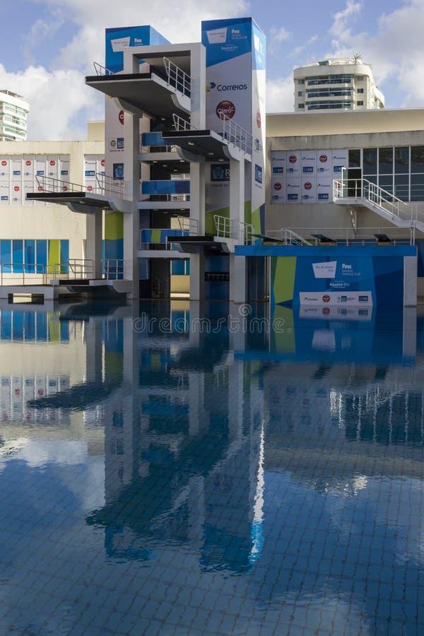 里约2016奥林匹克举办地:玛丽亚Lenk水生中心 免版税库存图片