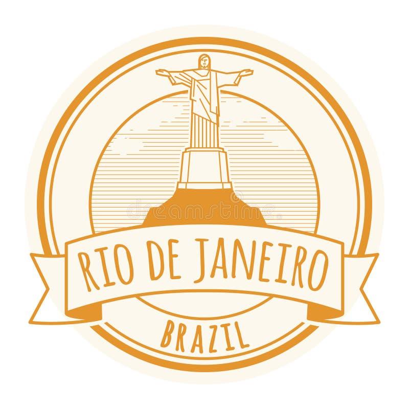 里约de Jeneiro,巴西邮票 库存例证
