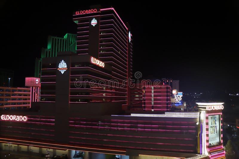 里诺、NV/美国- 2018年10月5日埃尔多拉多旅馆手段&赌博娱乐场 库存照片