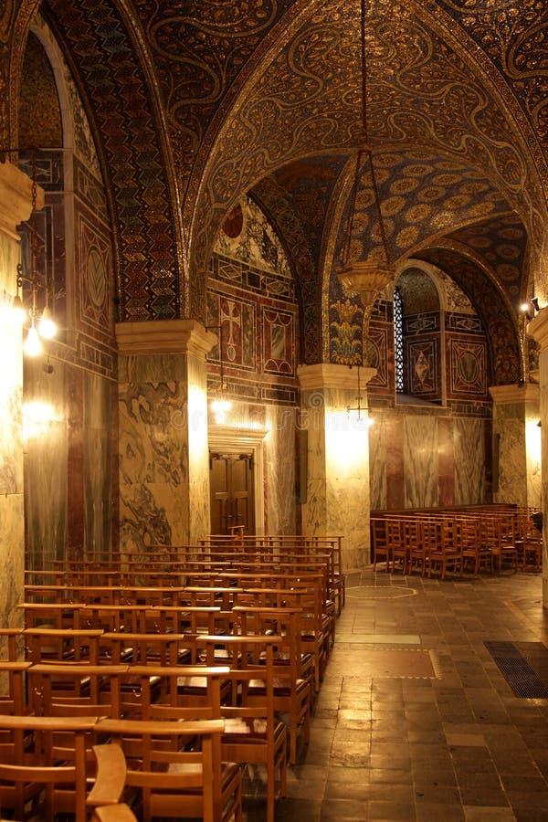 里面亚琛大教堂 库存图片