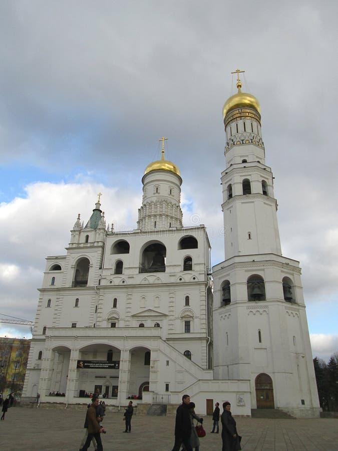 里面克里姆林宫 观点的伊冯伟大的钟楼,莫斯科,俄罗斯 库存照片