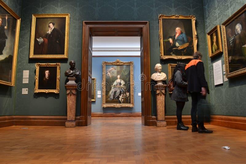 里面全国画象画廊伦敦 免版税库存照片