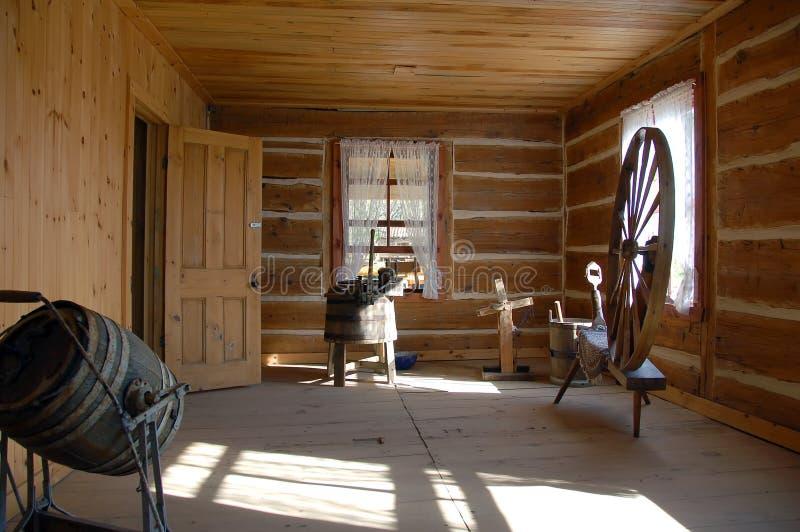 里面古色古香的房子 库存照片