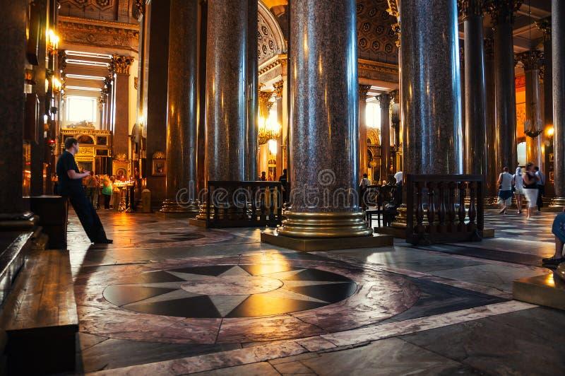 里面喀山大教堂在圣彼德堡 库存照片