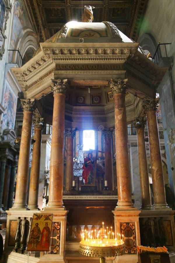 里面圣皮特圣徒・彼得大教堂-梵蒂冈 免版税库存照片