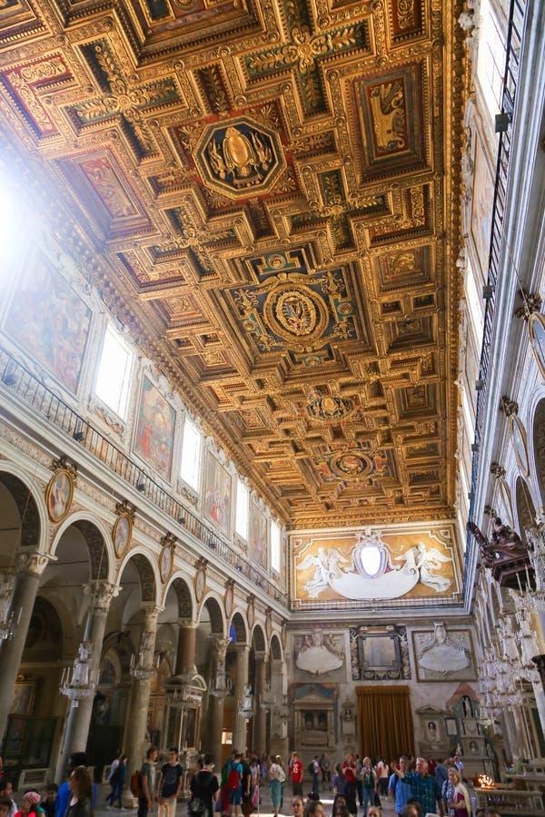 里面圣皮特圣徒・彼得大教堂-梵蒂冈 库存照片