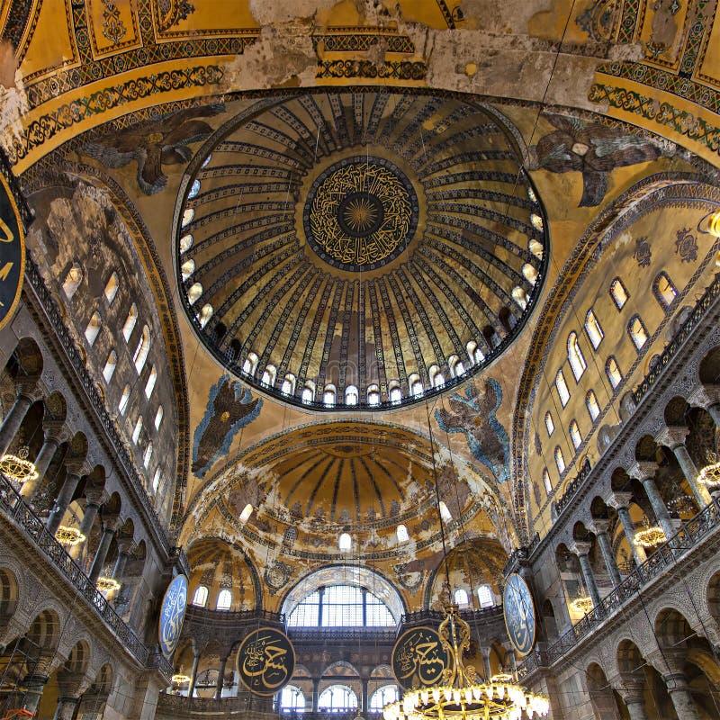 里面圣索非亚大教堂 免版税图库摄影