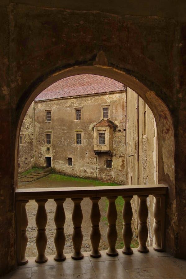 里面城堡 免版税库存照片