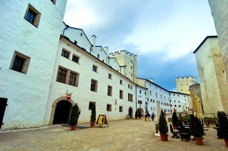 里面城堡hohensalzburg 免版税库存照片