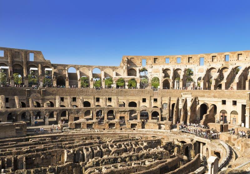 里面大剧场的看法,罗马 免版税库存照片