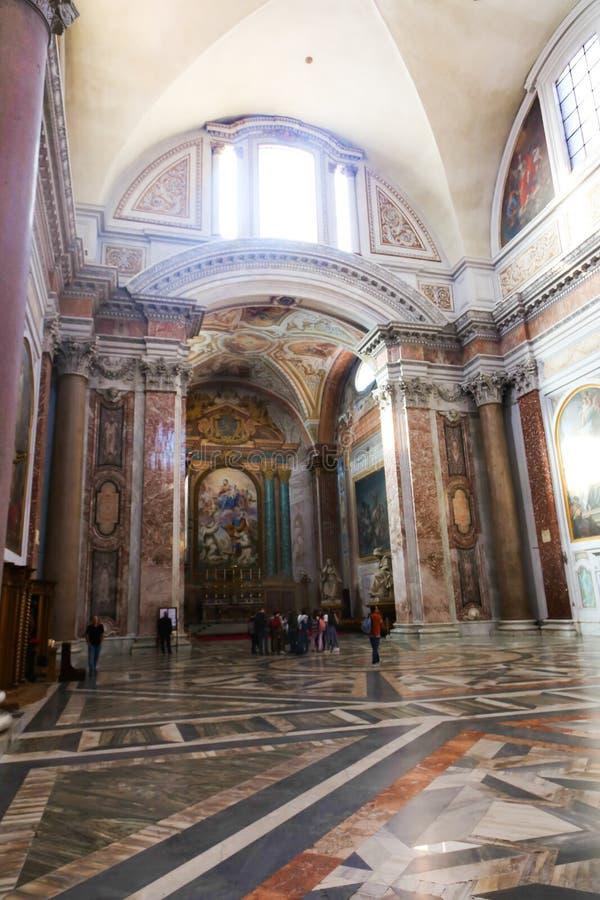 里面大教堂-罗马 库存照片