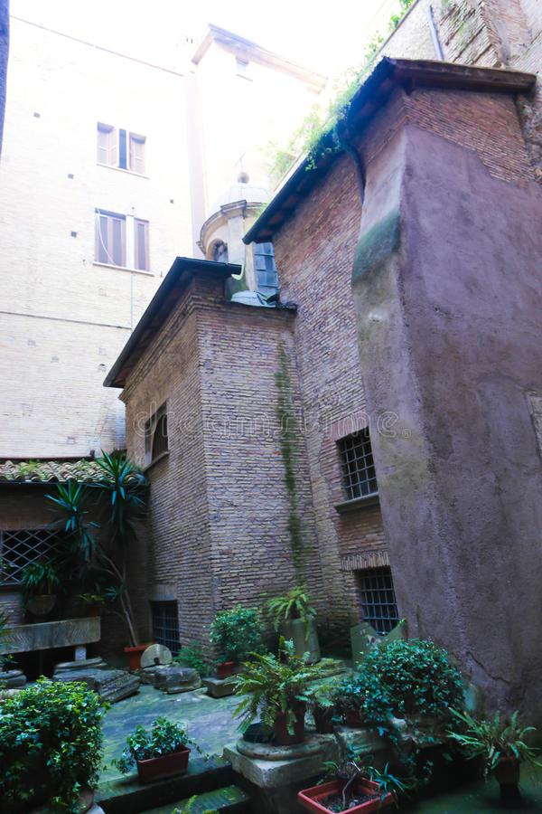 里面大教堂-罗马 免版税库存图片