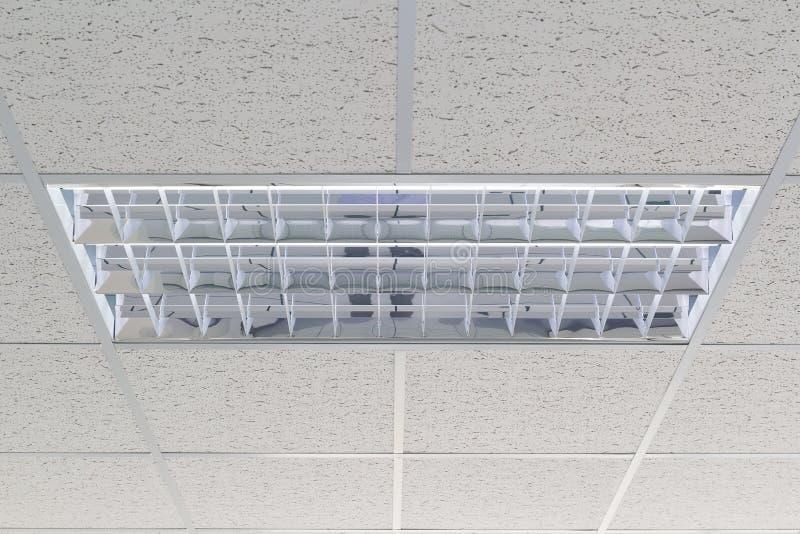 里面天花板照明设备 免版税库存图片