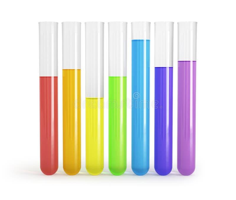里面实验室试验管, 向量例证