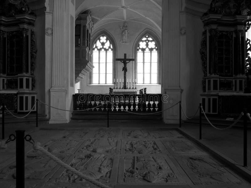 里面教堂 免版税库存图片