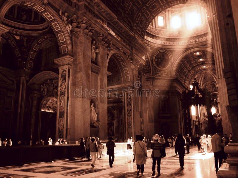 里面梵蒂冈 库存照片