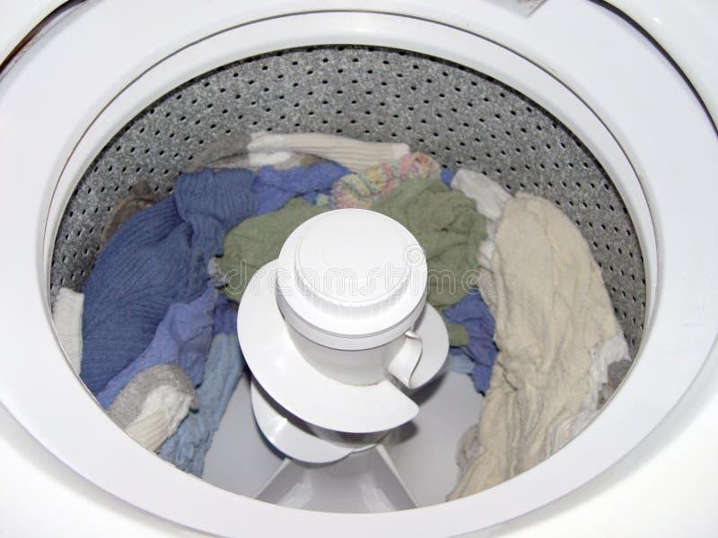 里面洗衣机 免版税库存图片