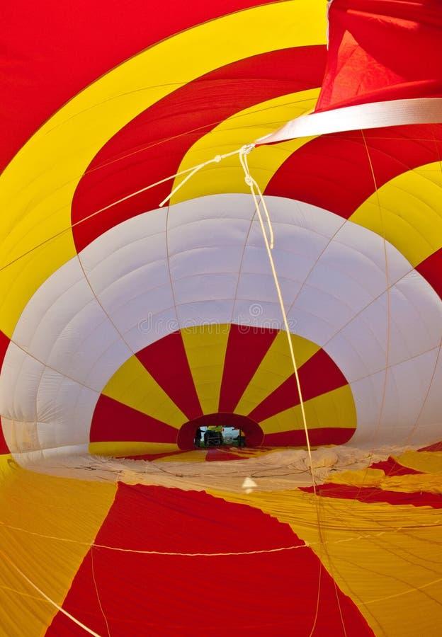 里面热空气气球 图库摄影