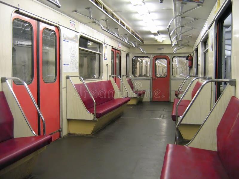 里面现代地铁 免版税库存照片