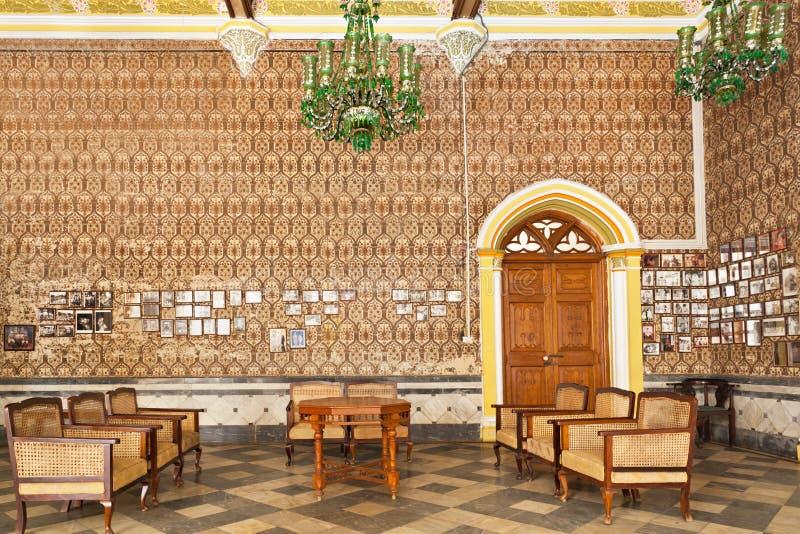 里面班格洛宫殿 免版税库存照片