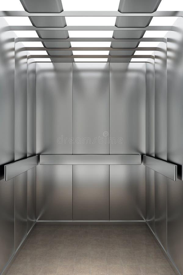 里面电梯 皇族释放例证