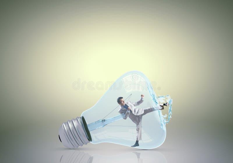 里面电灯泡 免版税库存照片