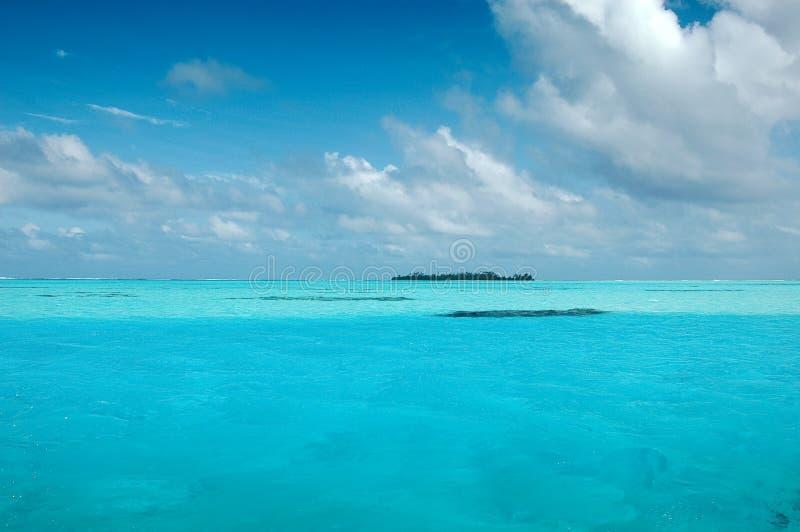 里面礁石 免版税库存照片