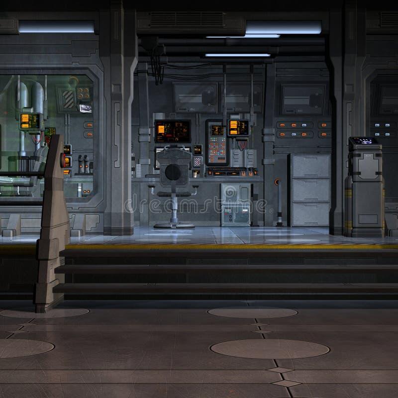 里面空间站 向量例证