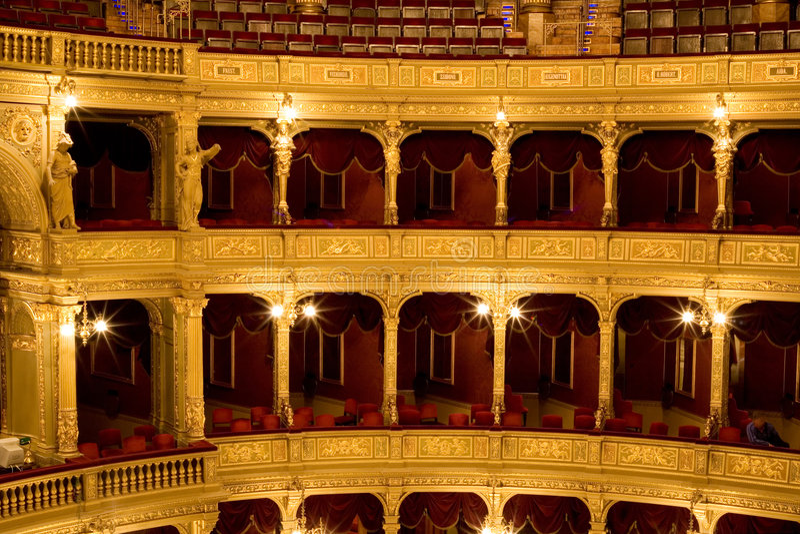 里面老剧院 免版税库存照片