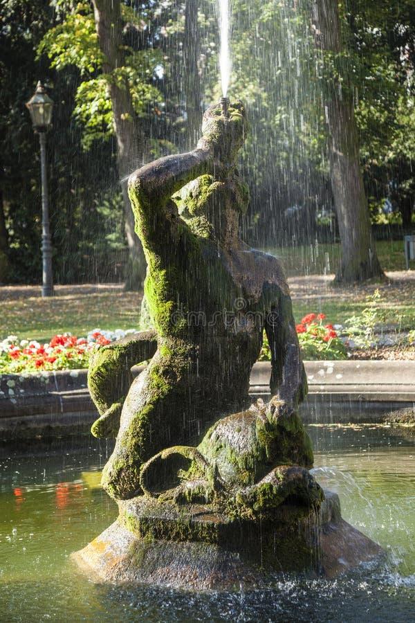 里面著名海王星喷泉 图库摄影