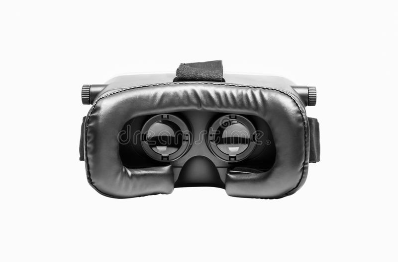里面虚拟现实玻璃录影数字技术创新小配件显示器辅助部件聪明的电话戏剧设计e 库存照片