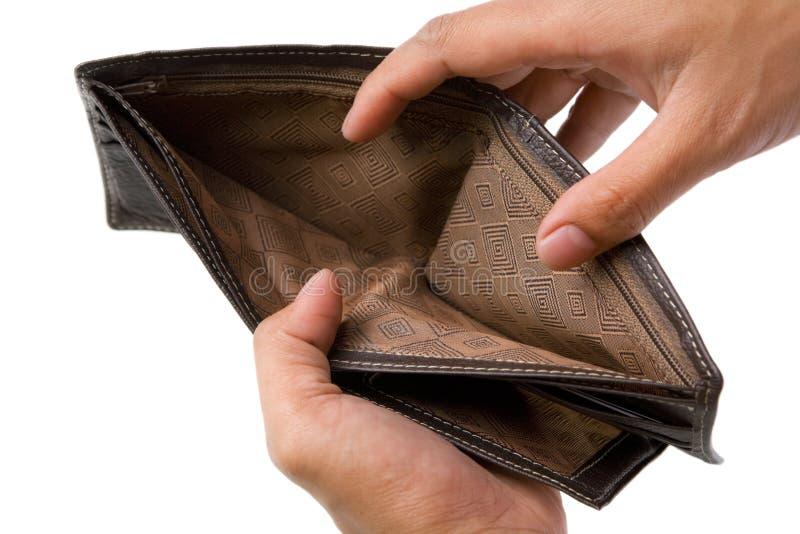 里面货币没有钱包 免版税库存照片