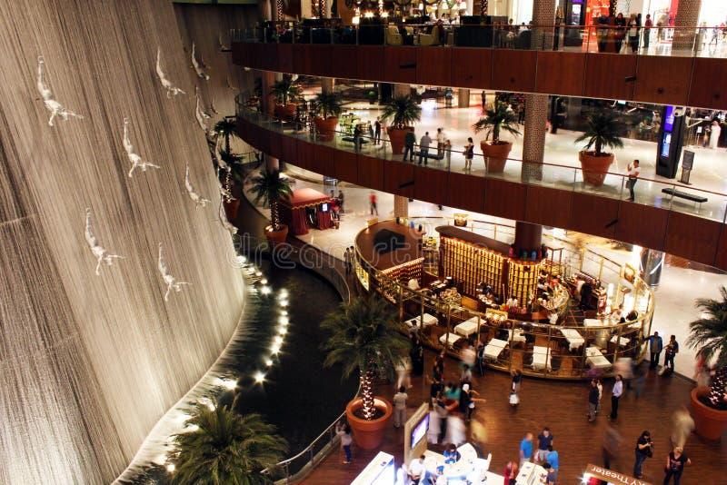 里面迪拜购物中心 库存照片