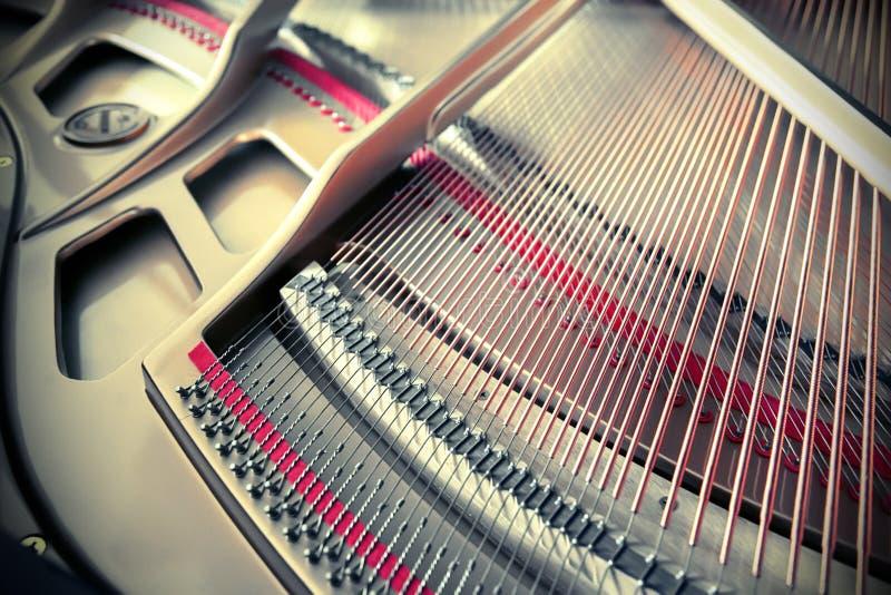 里面钢琴 库存图片