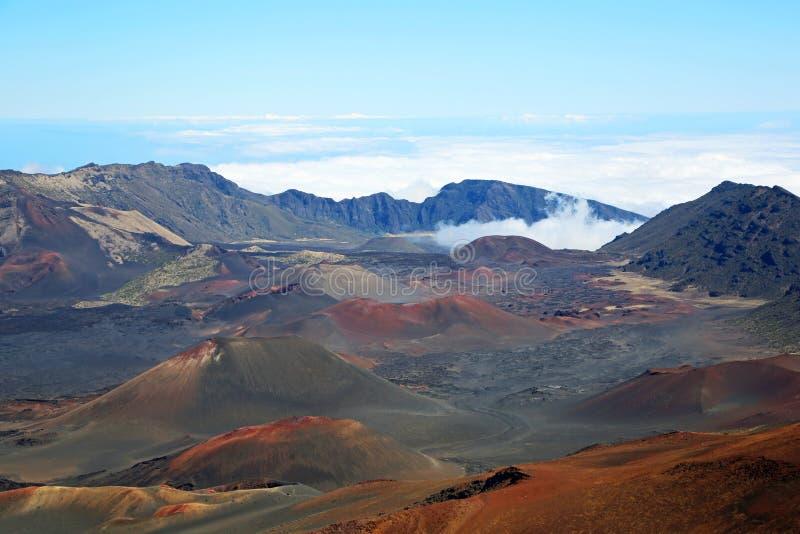 里面Haleakala火山口 免版税库存照片