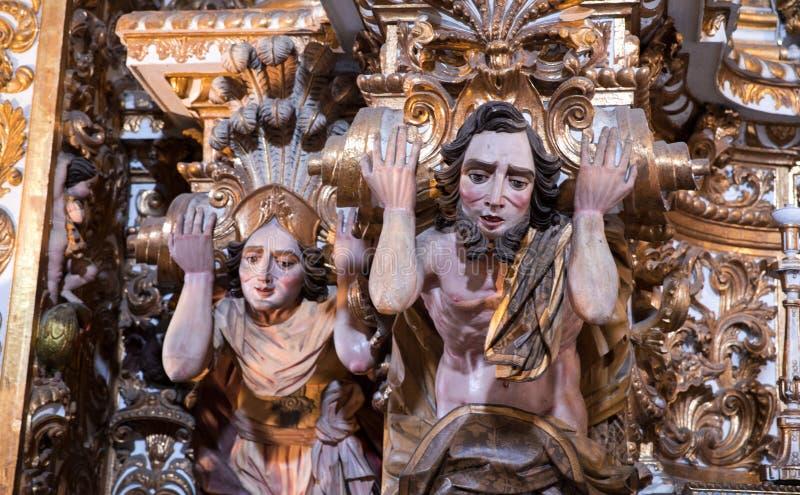 里面Igreja e Convento de SA£oo弗朗西斯科在巴伊亚,萨尔瓦多-巴西 库存照片