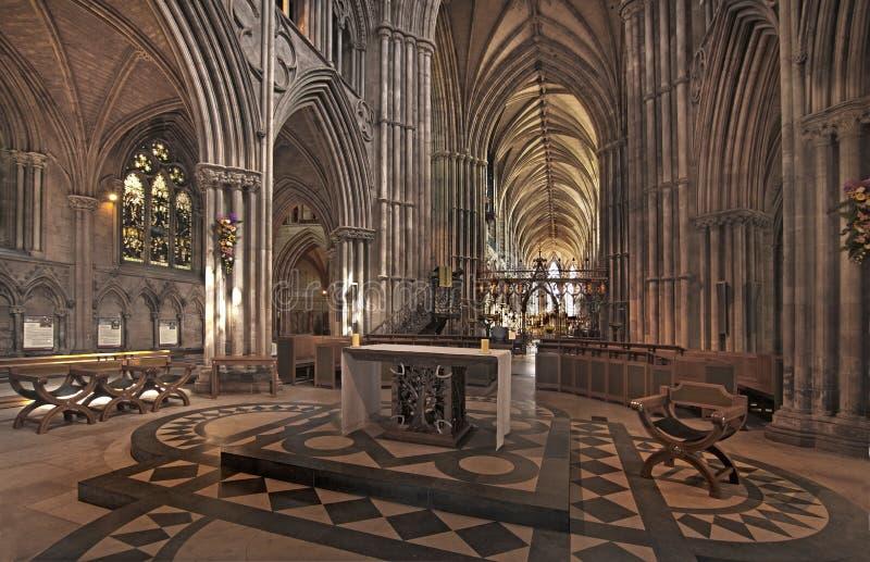 里面Lichfield大教堂 库存图片