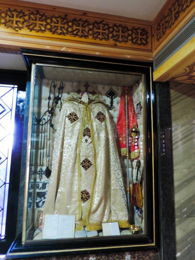 里面st麦纳大教堂博物馆 库存照片