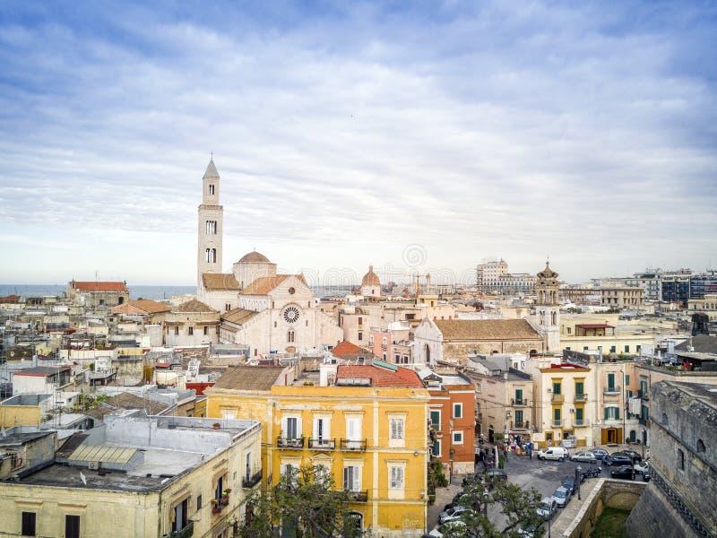 巴里,普利亚,意大利老镇  库存照片