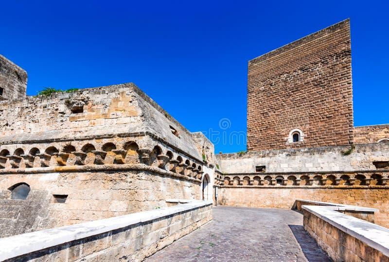 巴里,普利亚,意大利- Castello Svevo 图库摄影