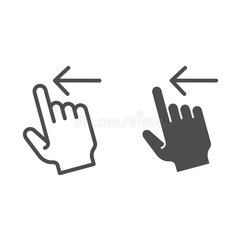 重击左线和纵的沟纹象 轻打在白色留下传染媒介例证被隔绝 姿态概述样式设计,被设计 库存例证
