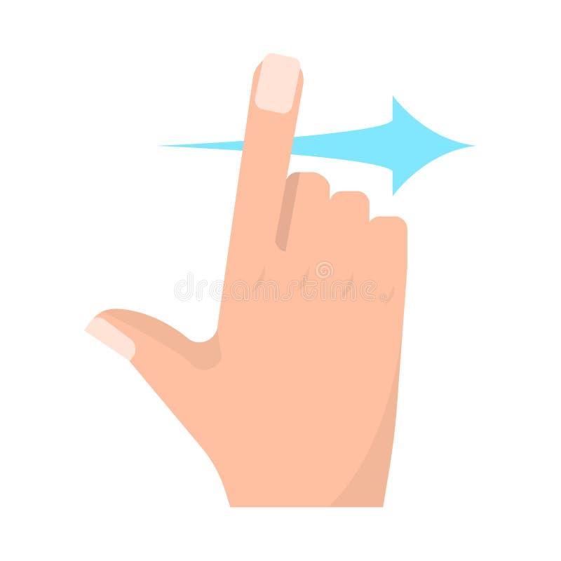 重击正确的触摸屏打手势传染媒介例证 库存例证